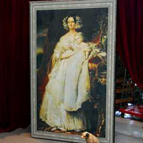Peinture Portrait Reine avec enfants