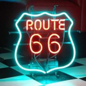 """Néon """"Route 66"""" 46cm"""