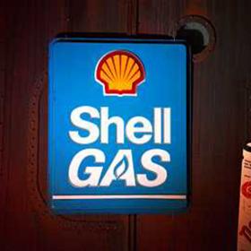 Panneau Station essence Shell