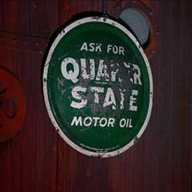 Panneau Station essence Quaker