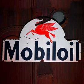 Panneau Station essence Mobiloil