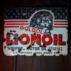 Panneau Station essence LionOil