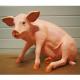 Cochon assis 65cm