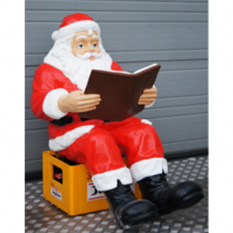 Pere Noel Assis Père Noel assis 104cm   Lib deco
