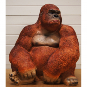 Petit gorille assis 75cm