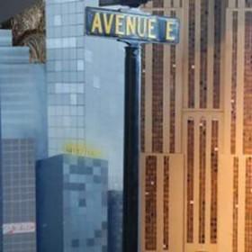 """Panneaux de rue """"Avenue E"""" 230cm"""