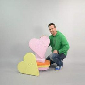 Bonbon en forme de coeur 58cm