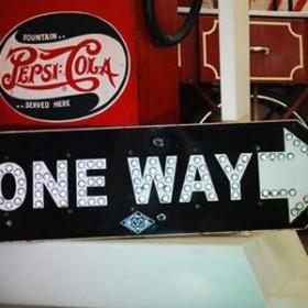 """Panneau de signalisation """"One Way"""" 31cm"""