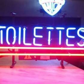 """Néon """"Toilettes"""" 27cm"""