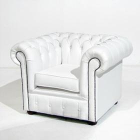 Chesterfield blanc 72cm