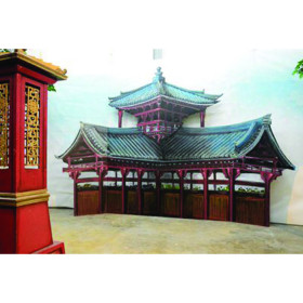 Fond temple bouddhiste