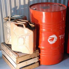 Baril de pétrole (look industriel)