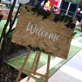 """Panneau """"Welcome"""""""