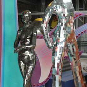 Statue miroir 185cm