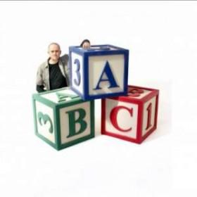 Lot de 3 cubes jouet géant 60cm