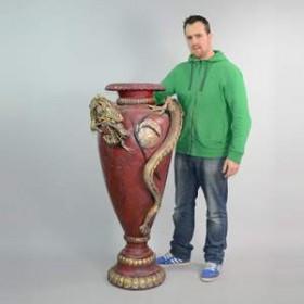 Vase avec dragon 140cm