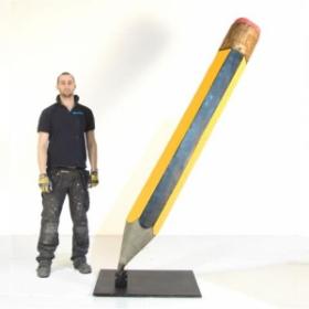 Crayon gris 240cm