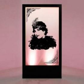 Panneau lumineux silhouette femme 200cm