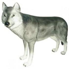 Loup gris en résine