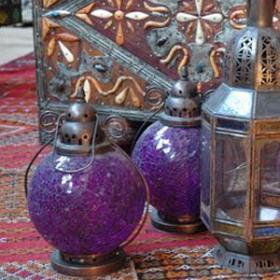 Lanterne violette 30cm