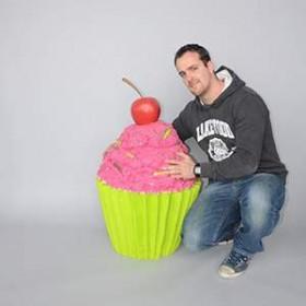 Cupcake rose 95cm